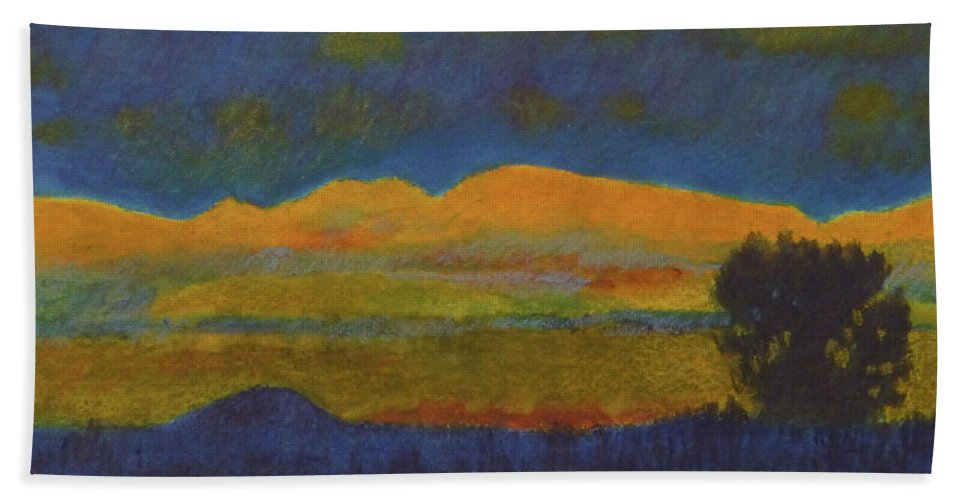 Montana Beach Towel featuring the painting Montana Night Dream by Cris Fulton