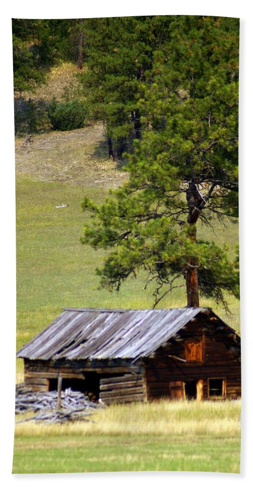 Ranch Beach Towel featuring the photograph Montana Ranch 2 by Marty Koch