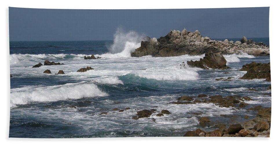 Monterey Beach Towel featuring the photograph Monterey Coastline by Bev Conover