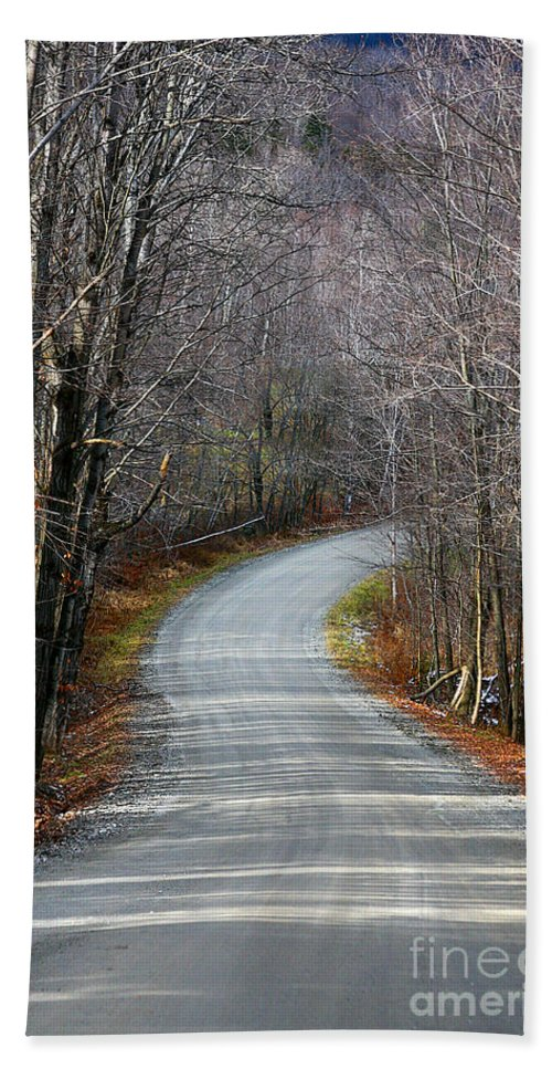 Rural Beach Towel featuring the photograph Montgomery Mountain Rd. by Deborah Benoit
