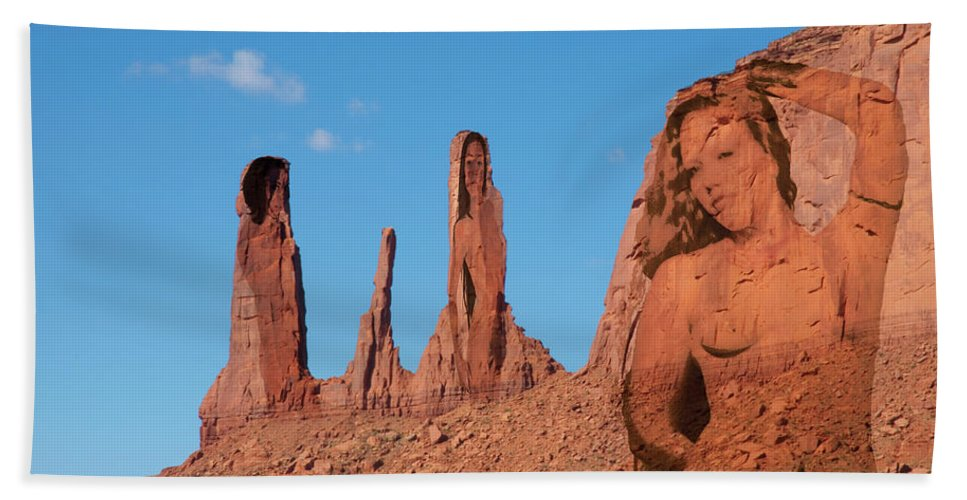 Monument Valley Beach Towel featuring the photograph Monument Valley Nymph #3 by Richard Henne