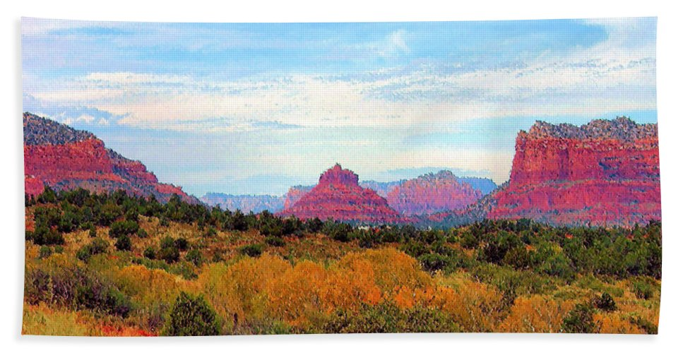 Monument Beach Towel featuring the photograph Monumental Bell Rock Vista by Kristin Elmquist