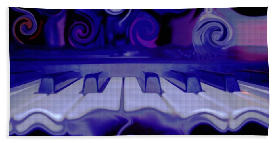Music Beach Towel featuring the photograph Moody Blues by Linda Sannuti