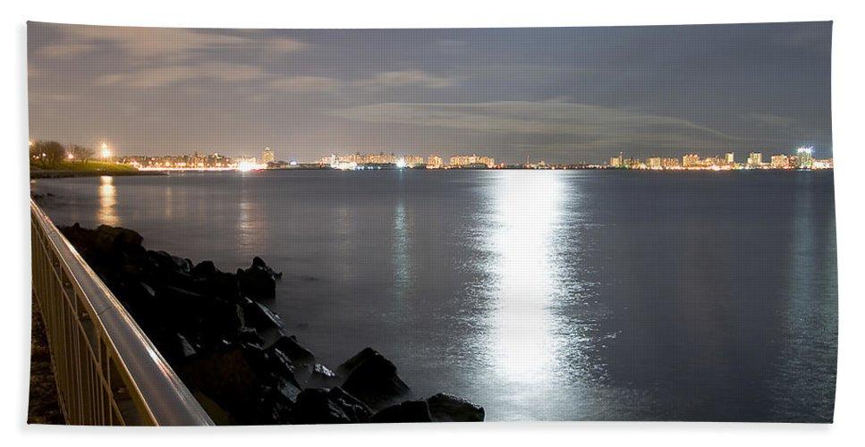 America Beach Towel featuring the photograph Moon Light by Svetlana Sewell