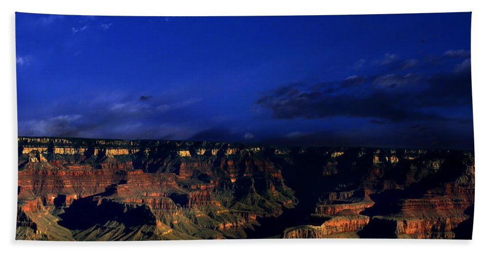 Grand Canyon Beach Towel featuring the photograph Moon Over The Canyon by Anthony Jones