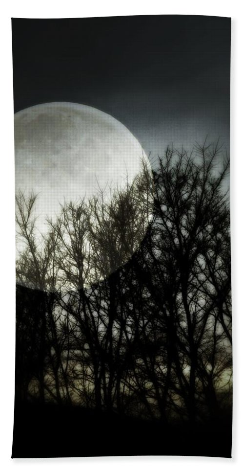 Moonlight Beach Towel featuring the photograph Moonlight by Marianna Mills