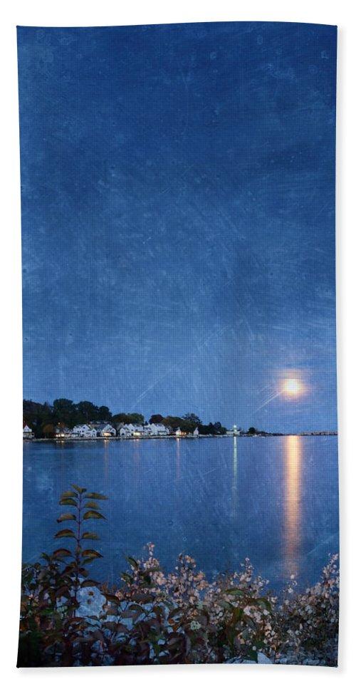 Mackinac Island Beach Towel featuring the photograph Moonlight On Mackinac Island Michigan by Jill Battaglia