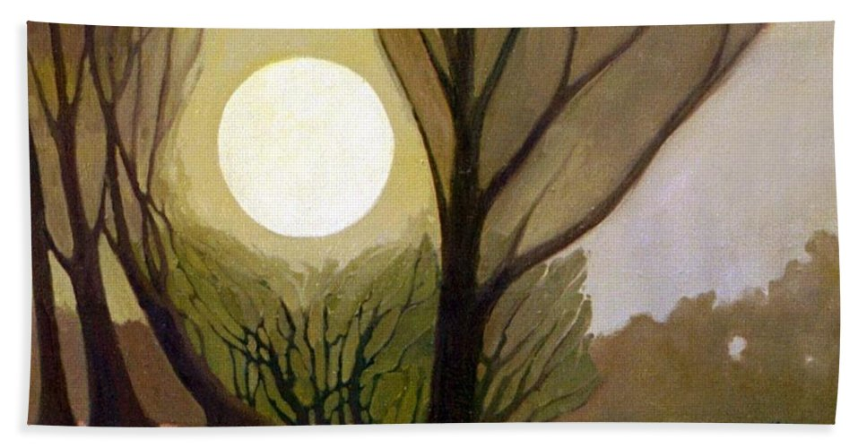 Dreamscape Beach Towel featuring the painting Moonlit Dream by Donald Maier