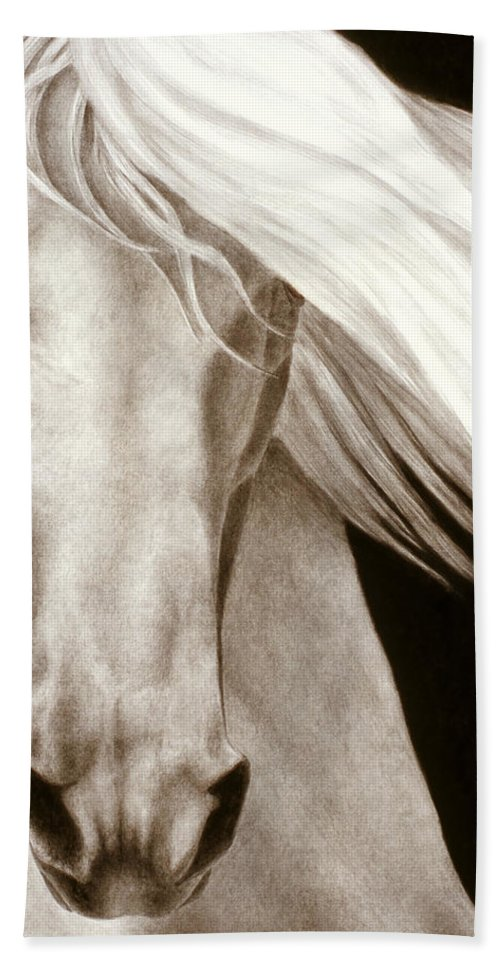 Horse Beach Towel featuring the painting Moonrise by Pat Erickson