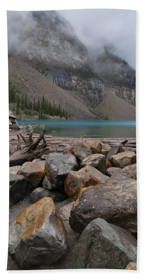 Canada Beach Towel featuring the photograph Moraine Lake by Alan Toepfer