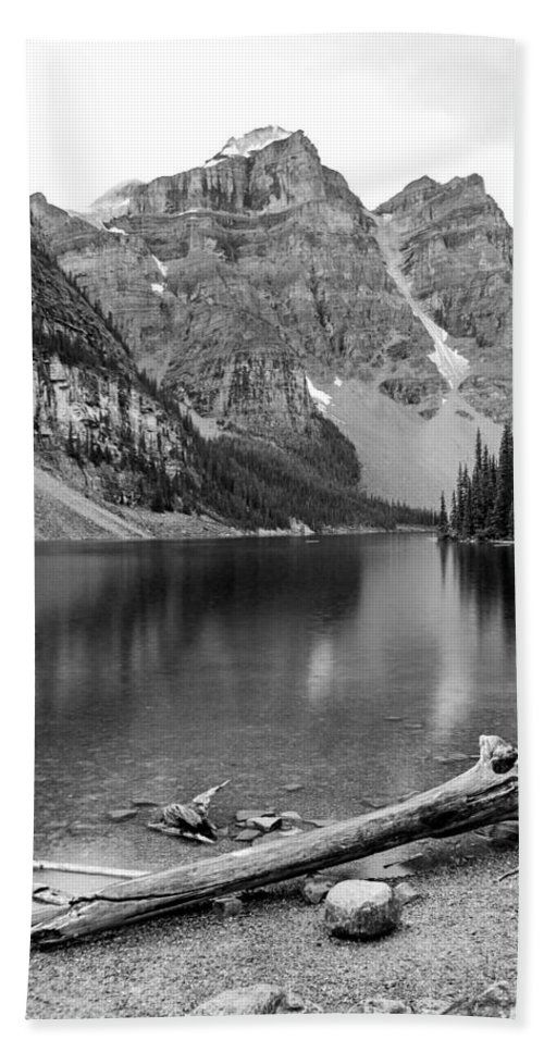 Moraine Lake Beach Towel featuring the photograph Moraine Lake by Angie Schutt