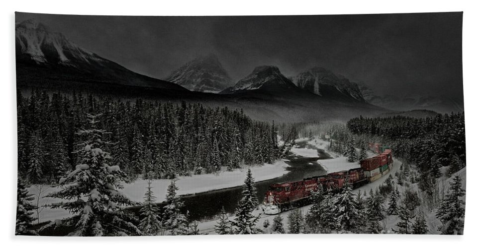 Epic Beach Towel featuring the photograph Morant's Curve At Night by Brad Allen Fine Art