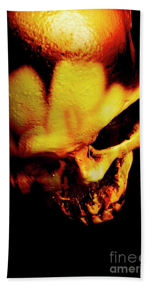 Horror Beach Towel featuring the photograph Morbid Decaying Skull by Jorgo Photography - Wall Art Gallery