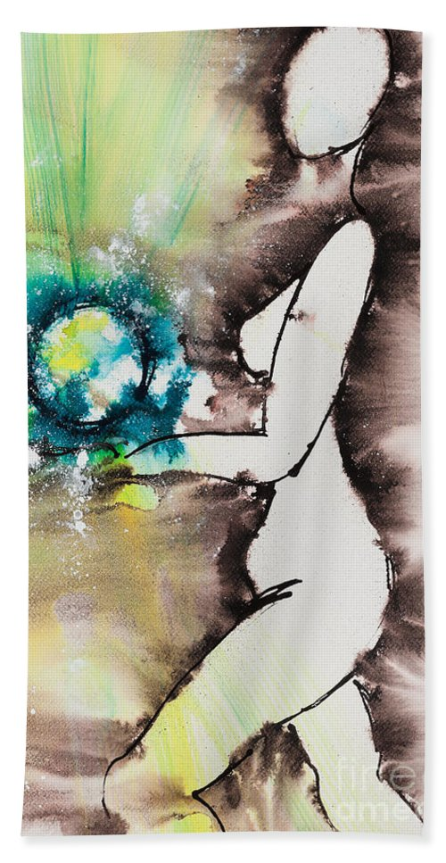 Ilisa Millermoon Beach Towel featuring the painting More Than Series No. 2046 by Ilisa Millermoon