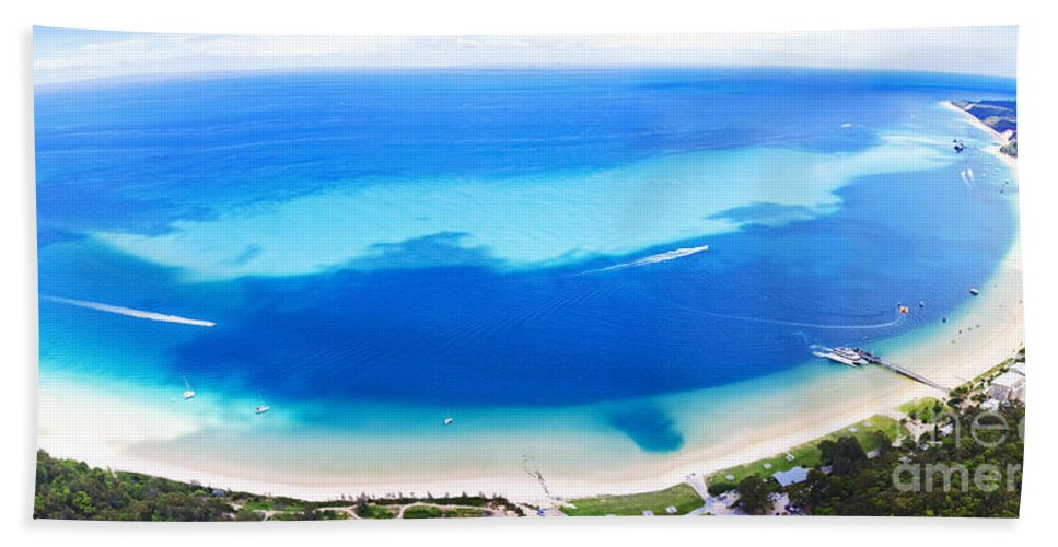 Aerial Beach Towel featuring the photograph Moreton Island Aerial View by Jorgo Photography - Wall Art Gallery