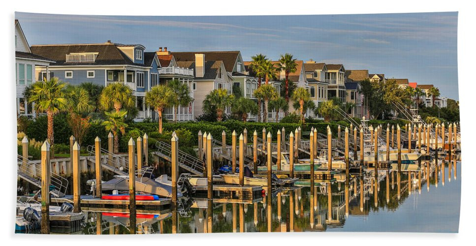 Wild Dunes Beach Towel featuring the photograph Morgan Place Homes In Wild Dunes Resort by Donnie Whitaker