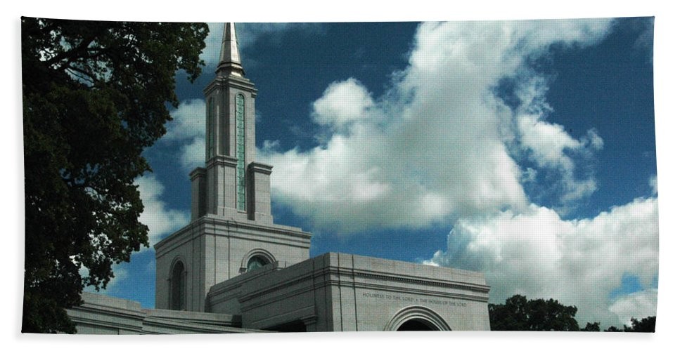 California Beach Towel featuring the photograph Mormon Temple Folsom Ca by Norman Andrus