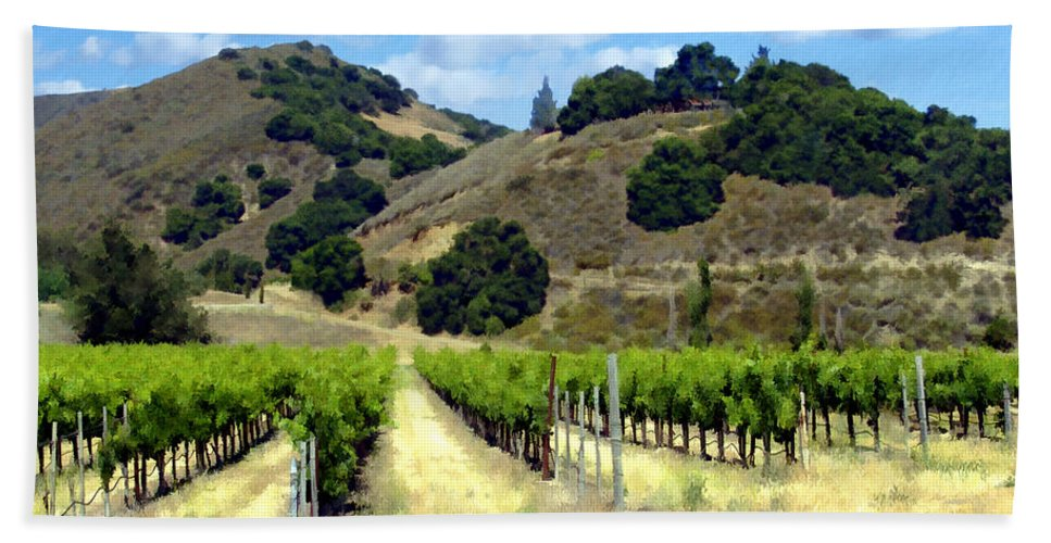 Vineyards Beach Towel featuring the photograph Morning At Mosby Vineyards by Kurt Van Wagner