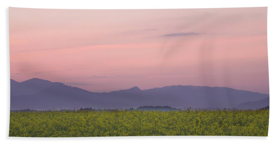 Brnik Beach Towel featuring the photograph Morning Has Broken by Ian Middleton