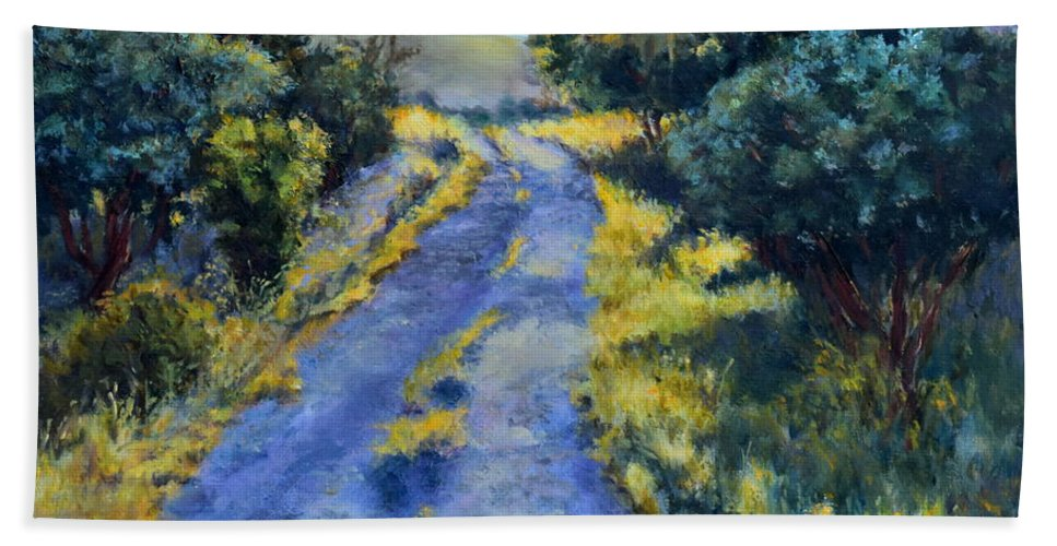 Morning Beach Towel featuring the painting Morning Has Broken by Mary Beth Harrison