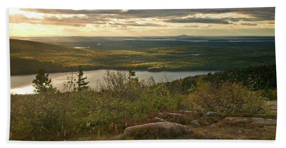 acadia National Park Beach Towel featuring the photograph Morning In Acadia by Paul Mangold