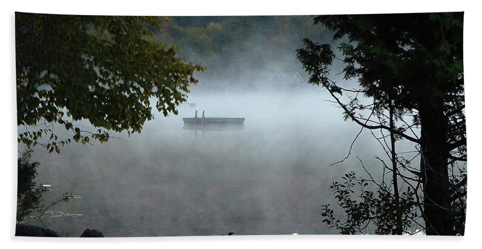 Lakes Beach Towel featuring the photograph Morning Mist 1008 by Guy Whiteley