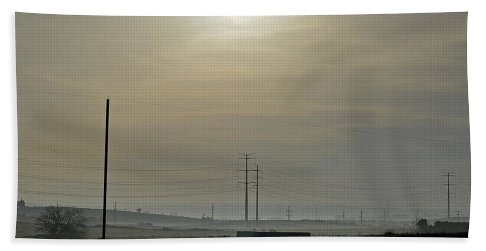 Morning Mist Beach Towel featuring the photograph Morning Mist by Dubi Roman