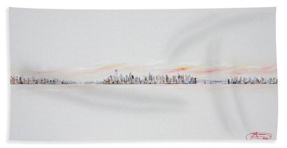 Jack Beach Towel featuring the painting Morning Sky by Jack Diamond