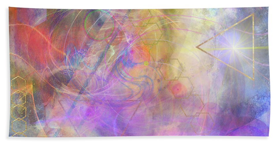 Morning Star Beach Towel featuring the digital art Morning Star by John Beck