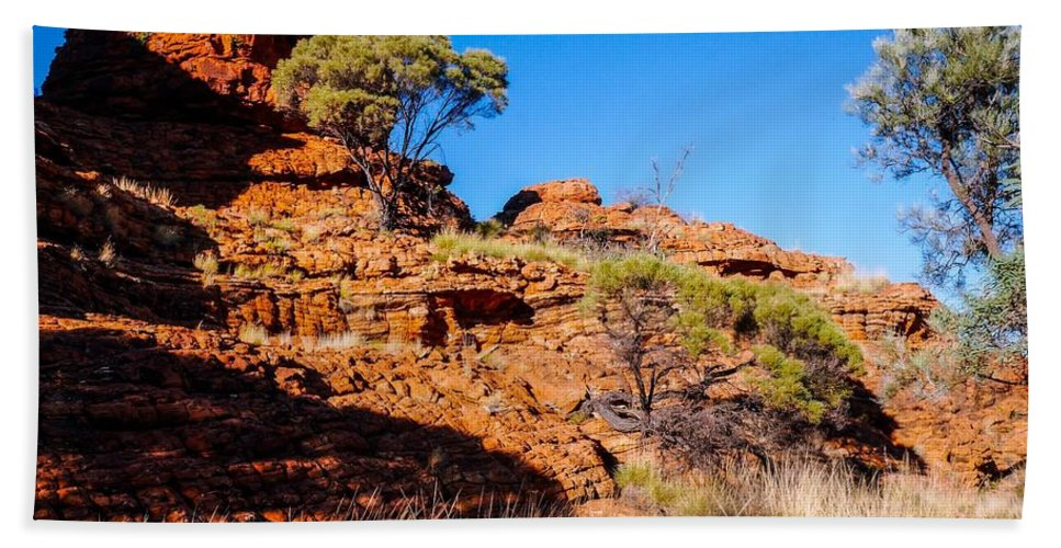 Raw And Untouched Northern Territory Series By Lexa Harpell Beach Towel featuring the photograph Morning To The Kings Canyon Rim - Northern Territory, Australia by Lexa Harpell
