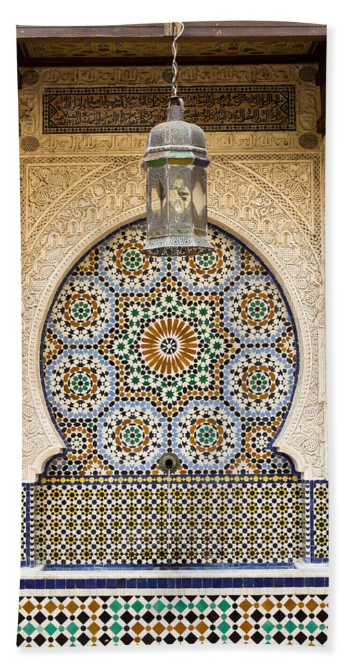 Africa Beach Towel featuring the photograph Moroccan Fountain by Tom Gowanlock