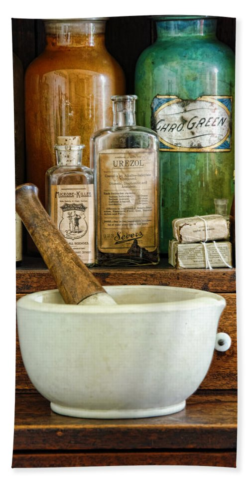 Mortar Beach Towel featuring the photograph Mortar And Pestle by Jill Battaglia