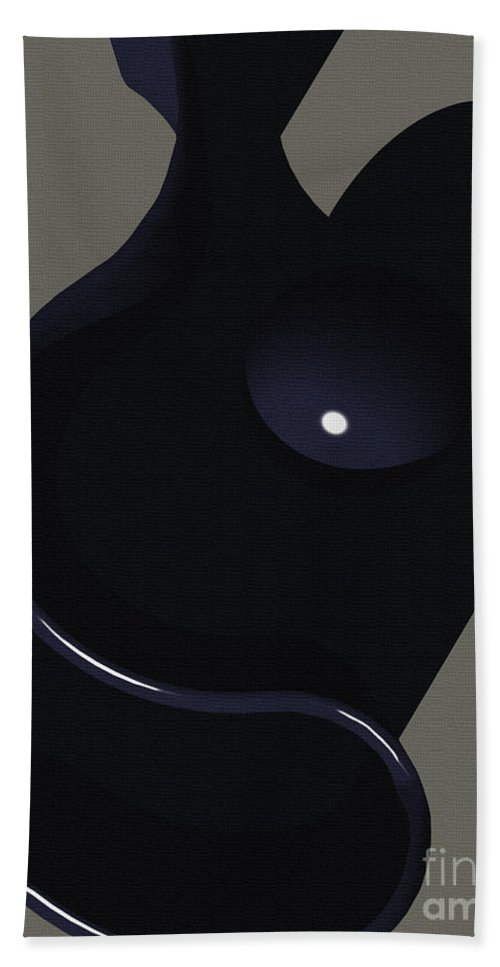 Abstract Beach Towel featuring the digital art Mother And Child by Richard Rizzo