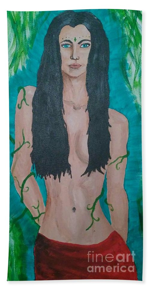Woman Beach Towel featuring the painting Mother Nature by Heather James
