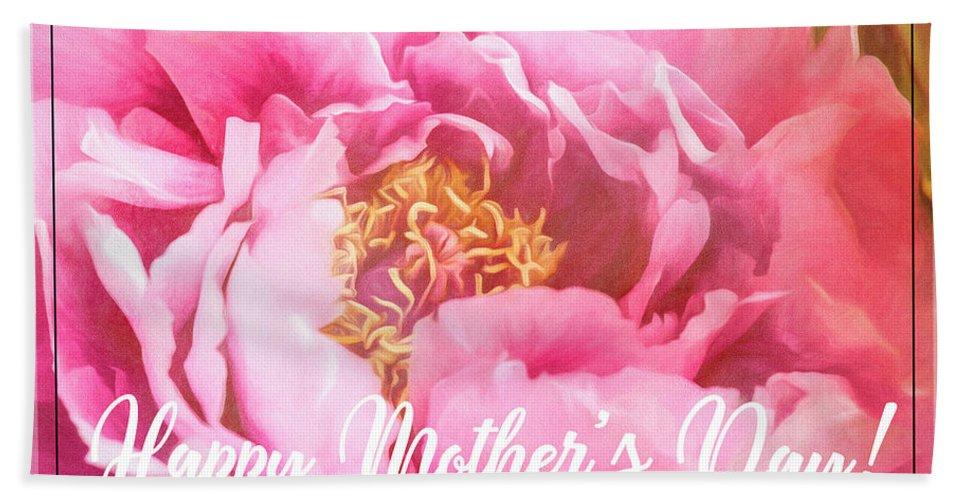 Denver Botanic Garden Beach Towel featuring the photograph Mother's Day Peony by Teresa Wilson