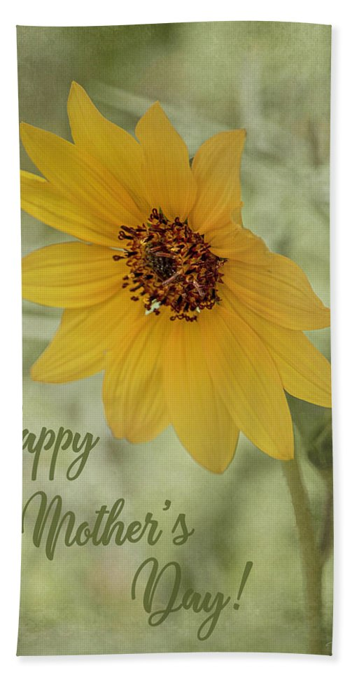 Beautiful Beach Towel featuring the photograph Mother's Day Sunflower by Teresa Wilson