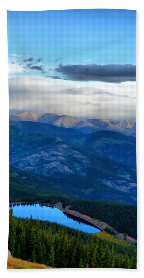 Mount Evans Beach Towel featuring the photograph Mount Evans Painterly 2 by Angelina Vick