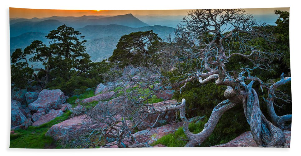 America Beach Towel featuring the photograph Mount Scott Sunset by Inge Johnsson