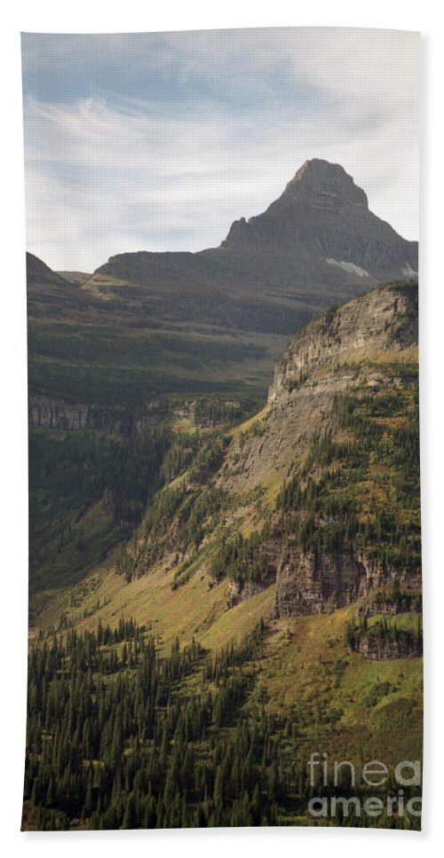 Glacier Beach Towel featuring the photograph Mountain Glacier by Richard Rizzo