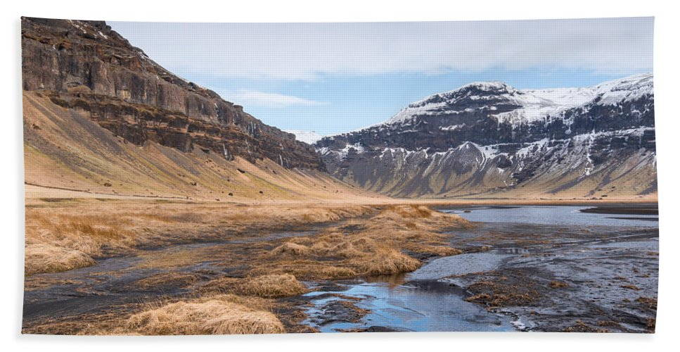 Icelandic Beach Towel featuring the photograph Mountain Landscape Iceland by Michalakis Ppalis