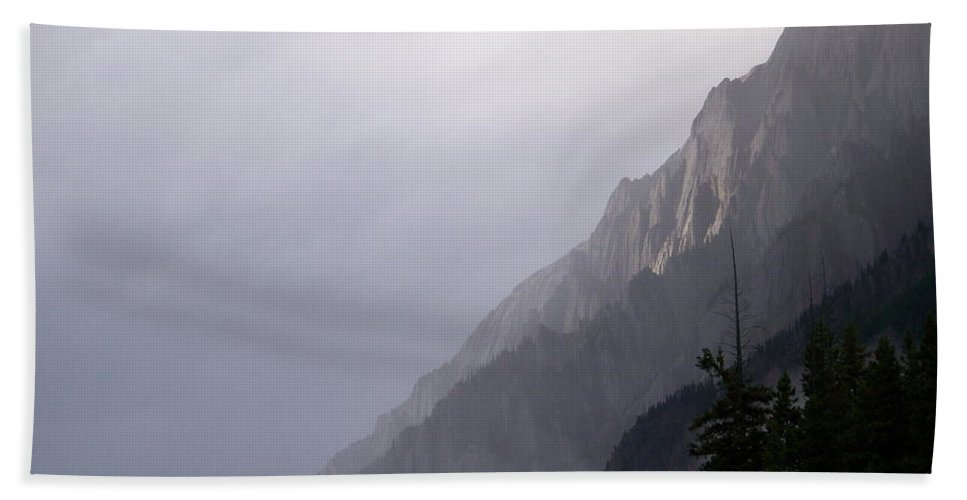 Rain Squall Beach Towel featuring the photograph Mountain Moods by Greg Hammond