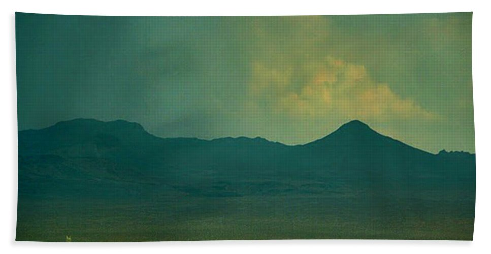 Clouds Beach Towel featuring the photograph Mountain Storm by Angela L Walker