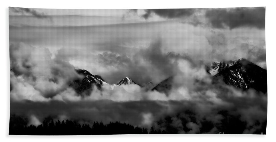 Mountains Beach Towel featuring the photograph Mountains In The Clouds by Venetta Archer