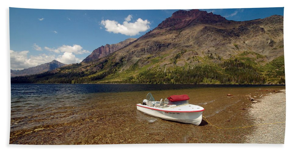 Moutains Beach Sheet featuring the photograph Moutain Lake by Sebastian Musial