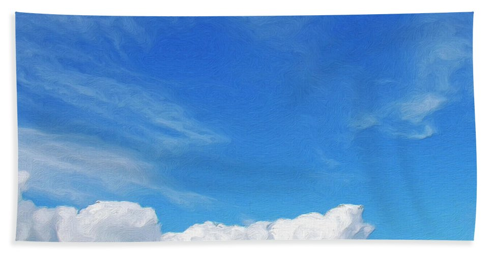 Clouds Beach Towel featuring the painting Moving Fast by Dominic Piperata