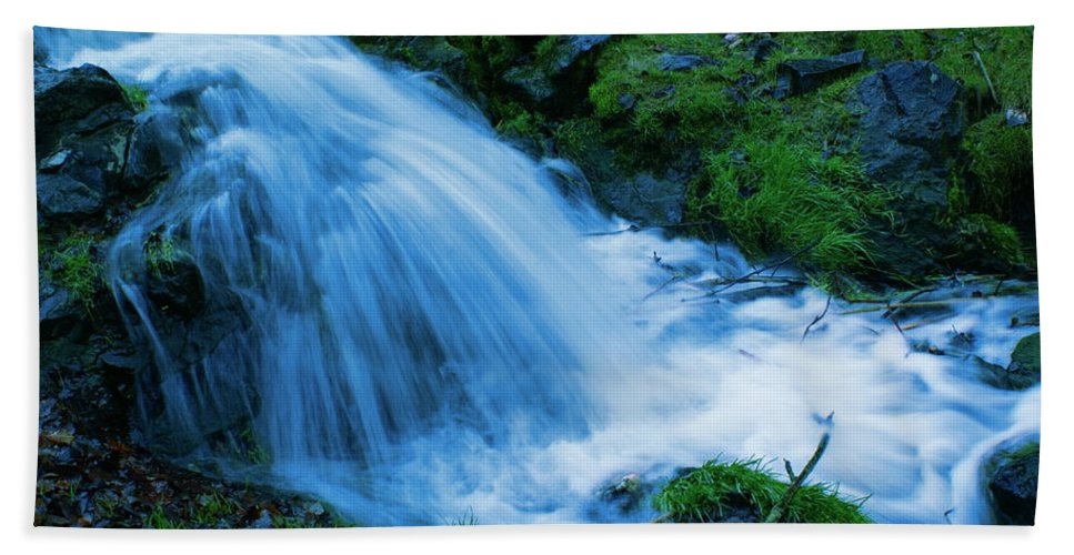 Photo Art Beach Towel featuring the photograph Moving Water Can Move Your Soul by Ben Upham III