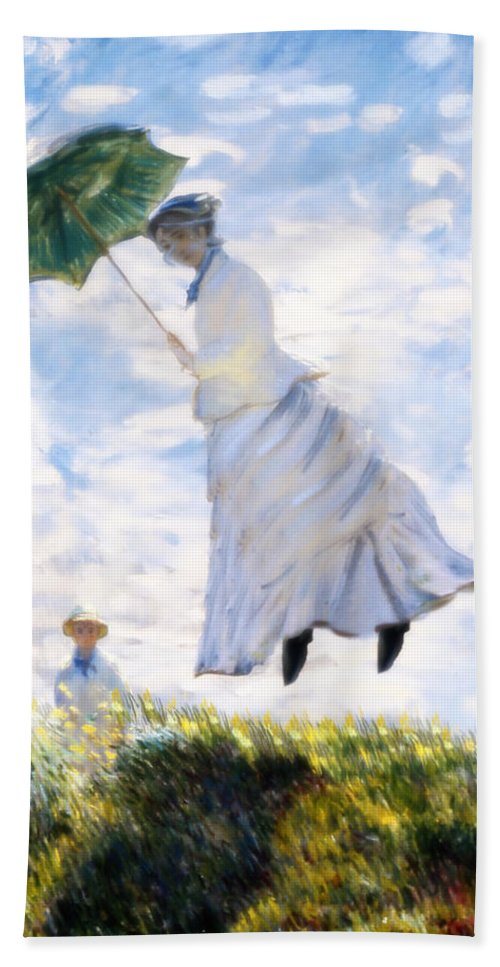 Camille Monet Beach Towel featuring the painting Ms Monet Blown Away by Gravityx9 Designs