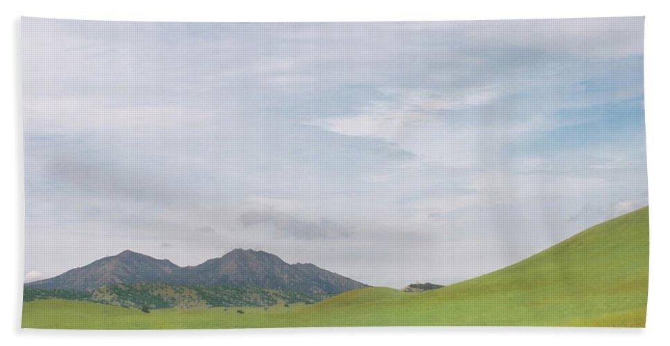 Landscape Beach Towel featuring the photograph Mt. Diablo MCR 1 by Karen W Meyer