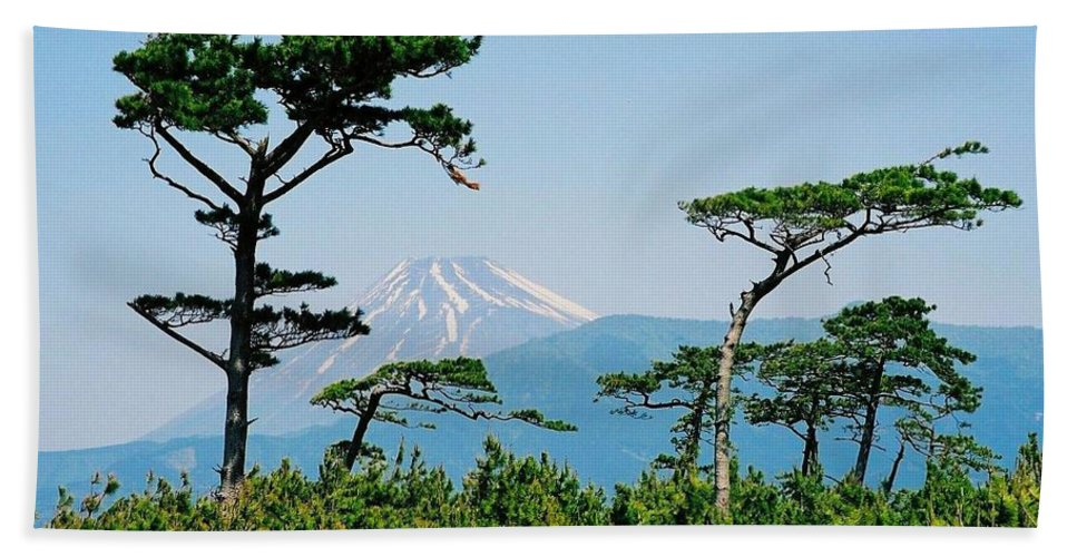 Asia Beach Towel featuring the photograph Mt. Fuji ... by Juergen Weiss
