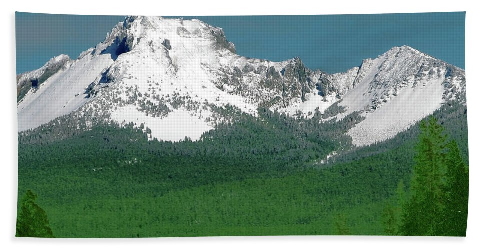 Mountain Beach Towel featuring the photograph Mt Thielson Coated by Teri Schuster